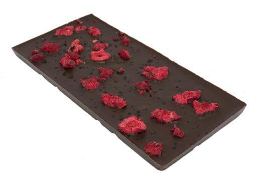 Chokladkaka i mörk choklad med hallon & lakrits
