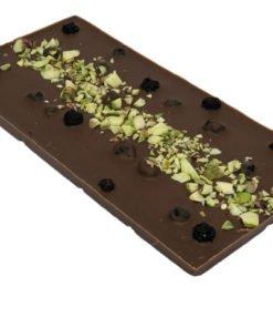 Mjölkchoklad med blåbär & pistagenötter