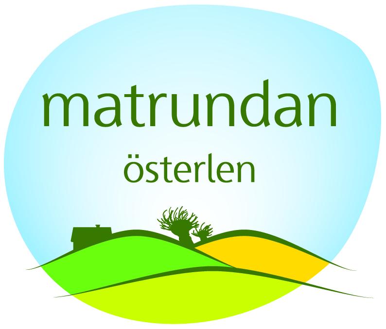 Matrundan Österlens logo med böjande landskap, rapsfält och blå himmel.