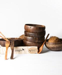 Kokolove - skålar, bestick och sugrör