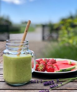 Grön smoothie sugrör