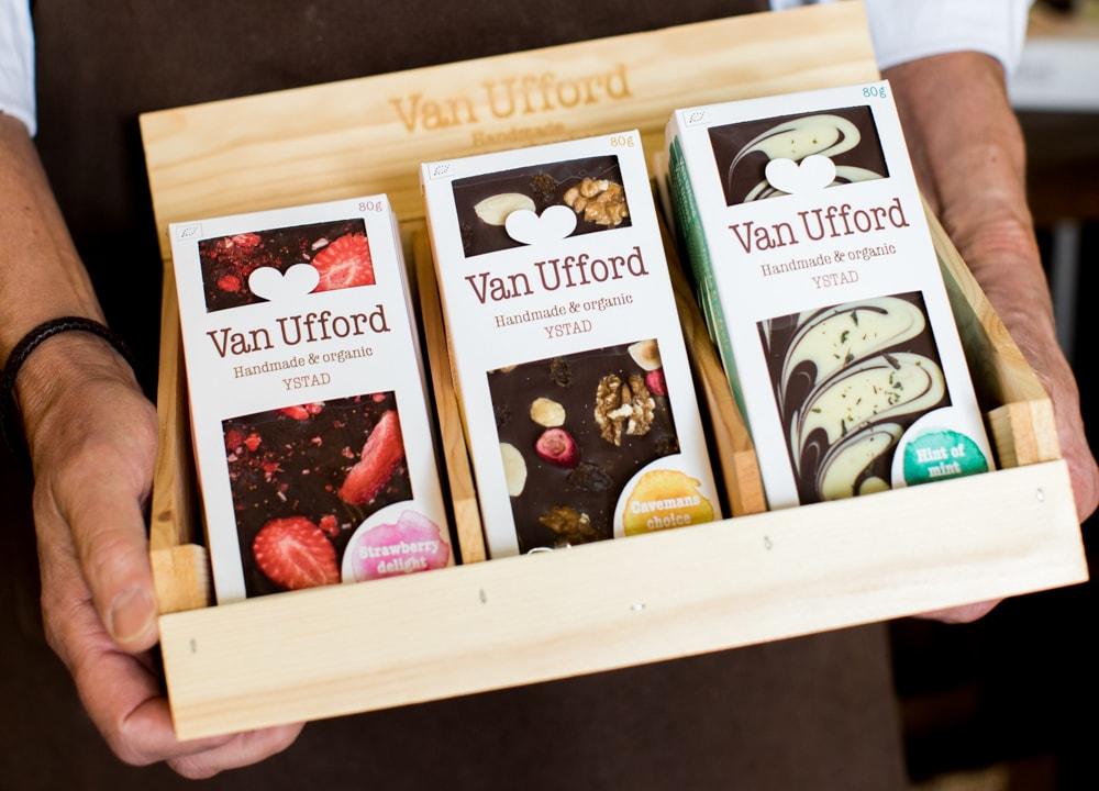 Chokladkakor i flera smaker