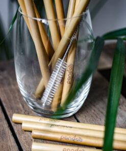 Bambusugrör i glas