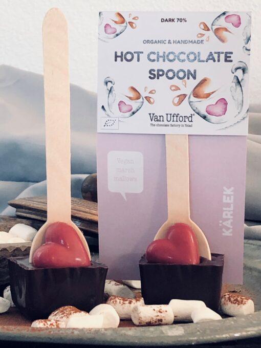 Hot cocolate spoon Kärlek med sin förpackning